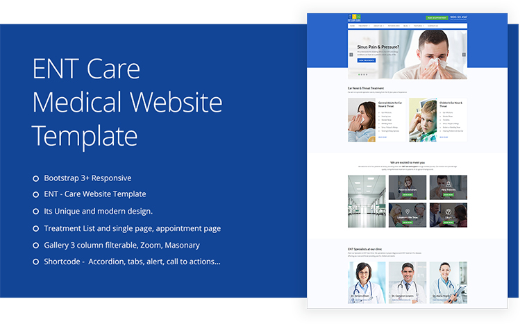 ENT Specialist Website Templates