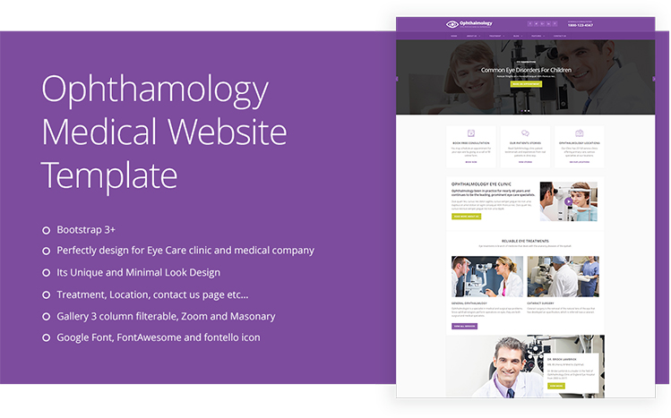 Ophthalmologist Eye Care Doctor Website Template