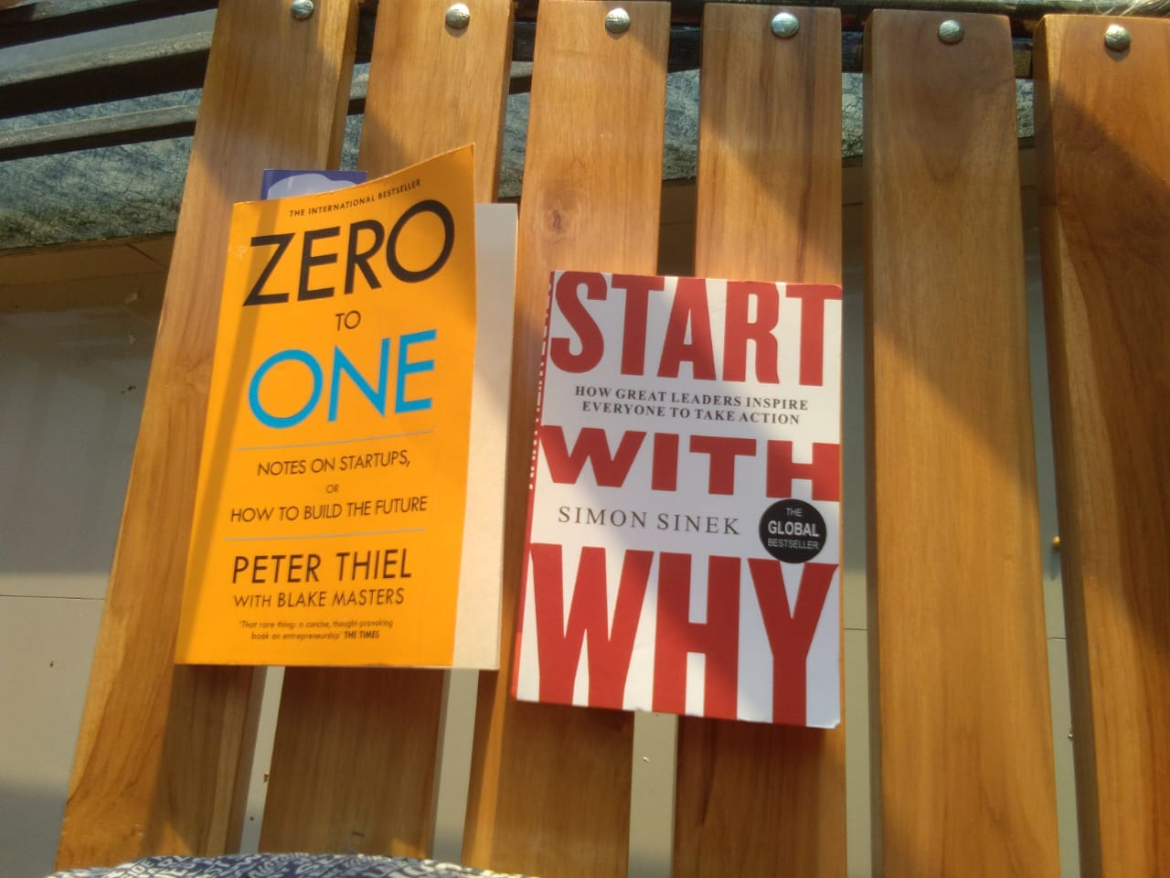 book for my library zero to one and start with why