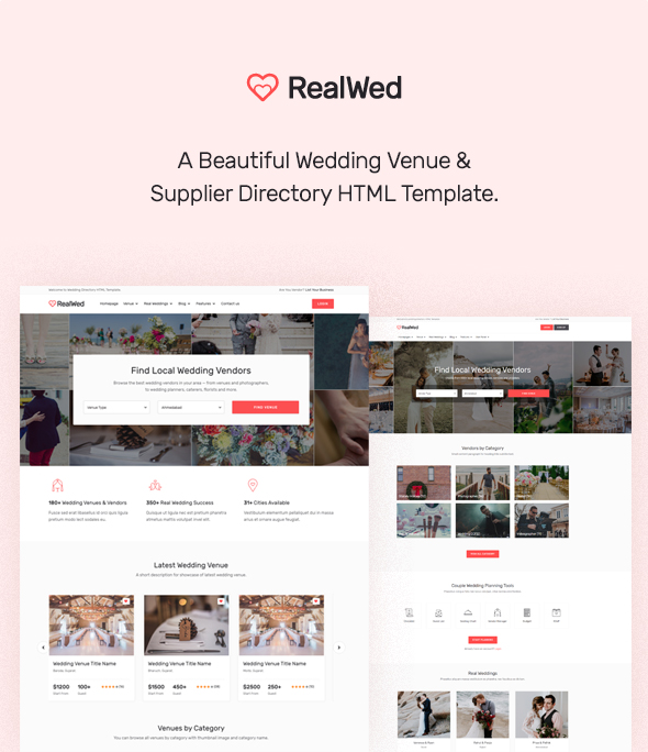 directory of wedding vendor and supplier