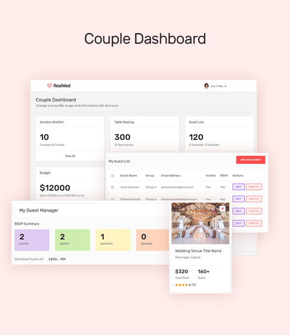 wedding planning tool for couple