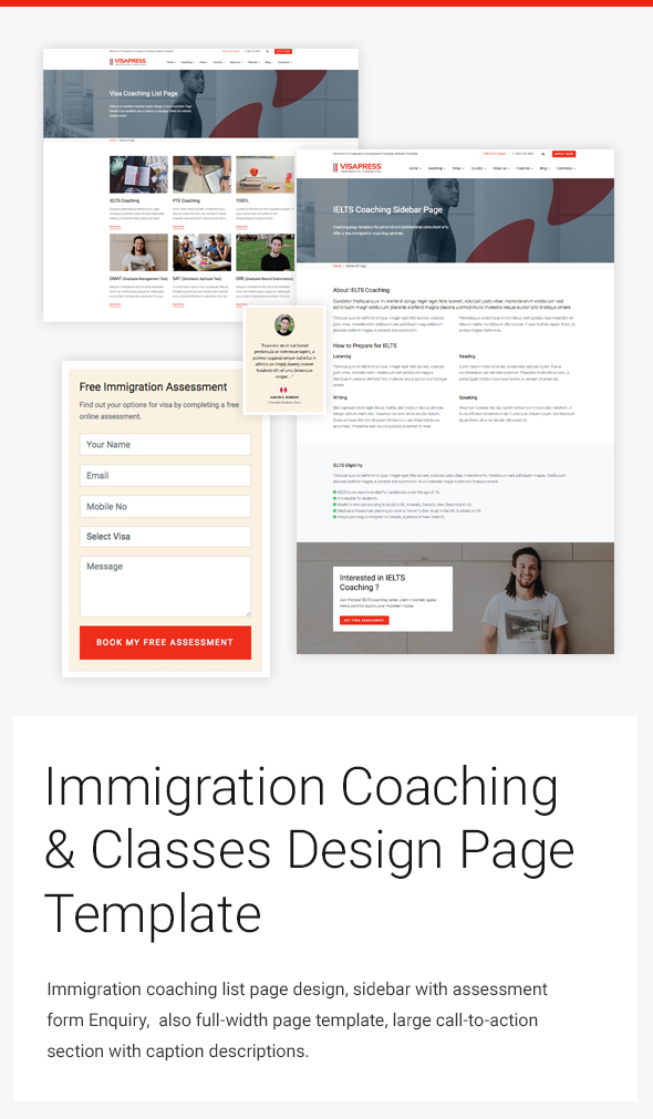 Immigration Consulting Responsive web design Templates