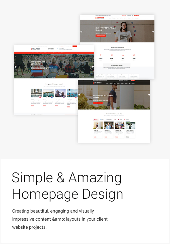simple and amazing homepage design for consulting service