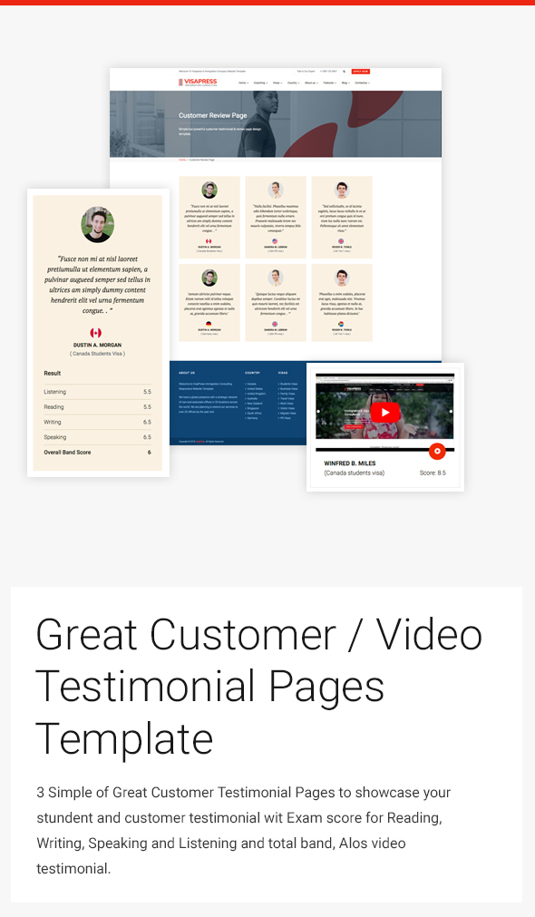 simple great testimonial page design