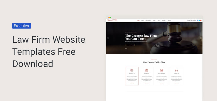 law bootstrap website templates free download